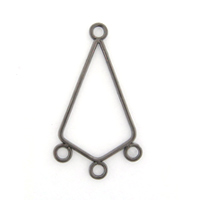Earring Drop Diamond Black Nickel Findings