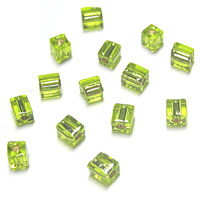 Miyuki Square 4mm Lime Green Silver Lined 14
