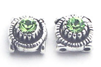 Sliders Round with Swarovski Peridot