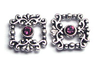 Sliders Victorian with Swarovski Amethyst
