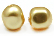 Swarovski Baroque Pearl 5840 8mm Gold Beads