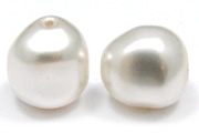 Swarovski Baroque Pearl 5840 8mm White Beads