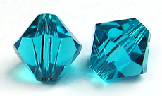 Swarovski Bicone 5328 6mm Blue Zircon