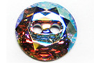 Swarovski Faceted 3014 12mm Crystal AB Faceted Crystal Buttons