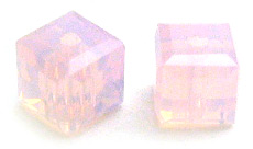 Swarovski Cube 5601 4mm Rose Water Opal