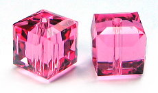 Swarovski Cube 5601 6mm Rose