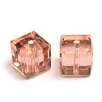 Swarovski Cube 5601 6mm Vintage Rose