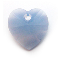 Swarovski Heart 6202 14mm Air Blue Opal Pendants