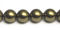 Swarovski Pearls 5810 8mm Antique Brass