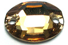 Swarovski Oval 3210 10x7mm Light Colorado Topaz Sew On Stones