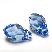 Swarovski Small Briolette 6007 7x4mm Light Sapphire Pendants