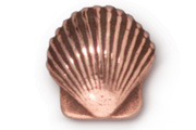 TierraCast Antique Copper Small Shell Bead