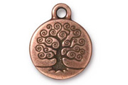 TierraCast Antique Copper Tree Of Life Drop