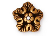 TierraCast Antique Gold Oak Leaf Bead Cap