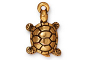 TierraCast Antique Gold Turtle Drop