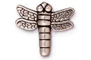 TierraCast Antique Silver Small Dragonfly Drop