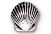TierraCast Antique Silver Small Shell Bead
