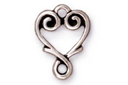 TierraCast Antique Silver Vine Heart Link