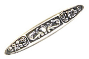 Trinity Antique Silver Nouveau Lily Bar