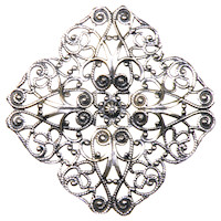 Trinity Antique Silver Rosa Large Filigree